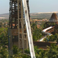 In pictures: the biggest, scariest waterslide you'll see today.