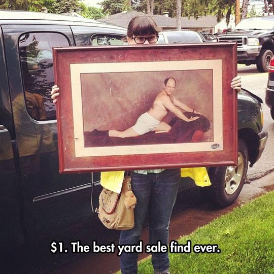 $1. Best yard sale find. Ever.