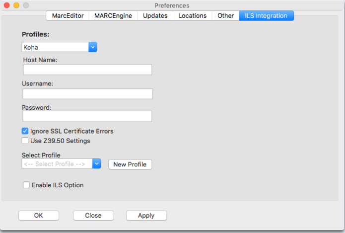 ILS Mac Integrations
