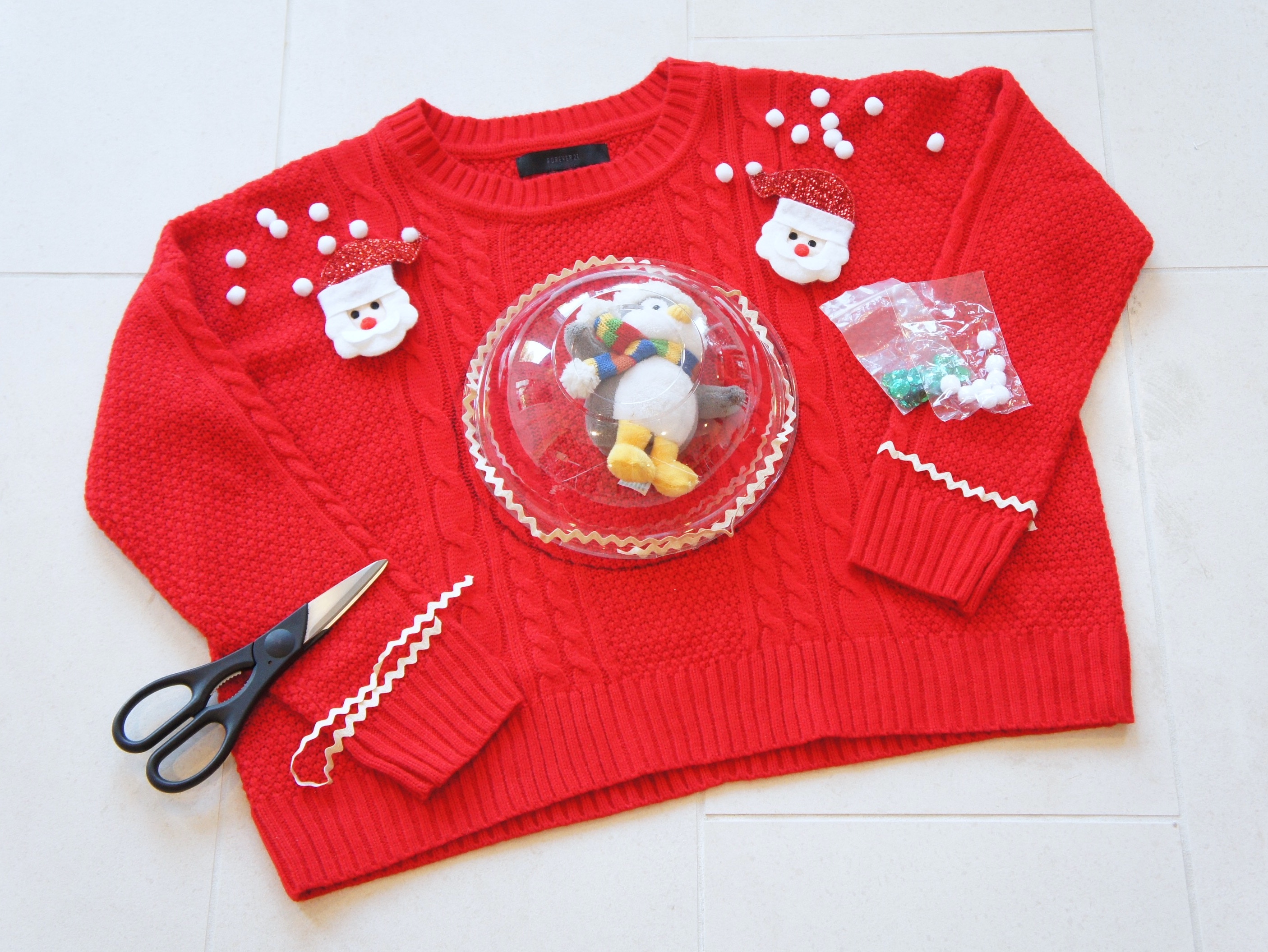 Exceptional Baby Diy Ugly Sweater Pregnant Step Diy Ugly Sweater Diy Ugly Sweater Front Center Diy Ugly Sweater inspiration Diy Ugly Christmas Sweater