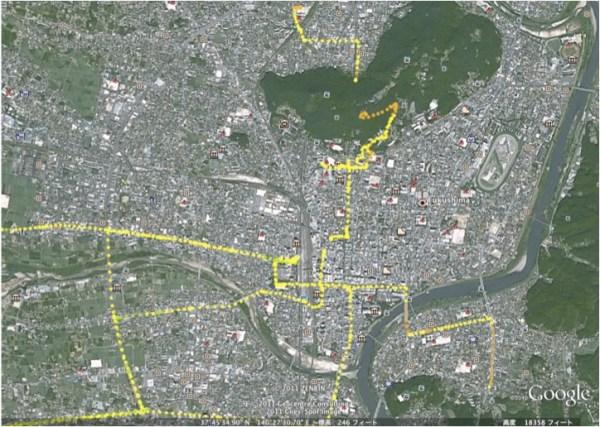 Center of Fukushima city