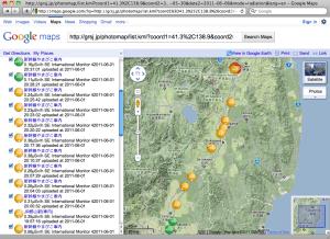 Radiation Photo Map of Tohoku Shinkansen (June 1, 2011, measured on board)