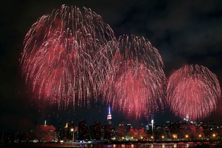 Macy's Fireworks Display on East River