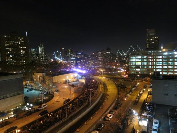 Protest on the Brooklyn Bridge