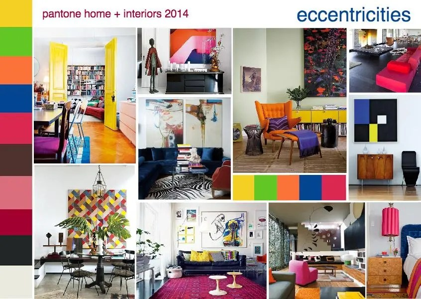 Style Substance And Color Major Trends And Directions For 2014 Eccentricities Sampleboard