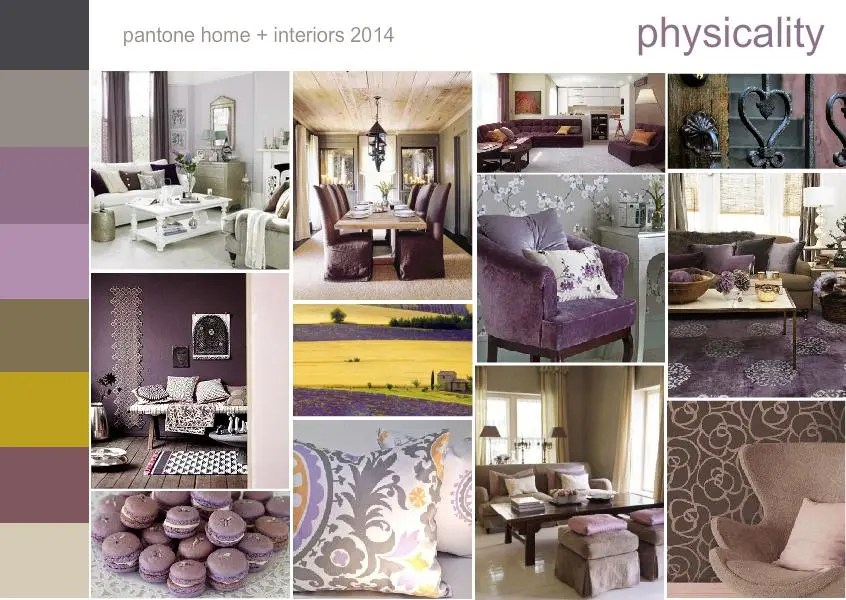 Pantone color trend physicality mood board 1