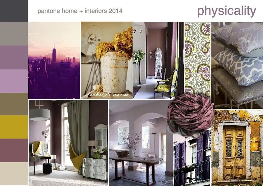 Pantone color trend physicality mood board