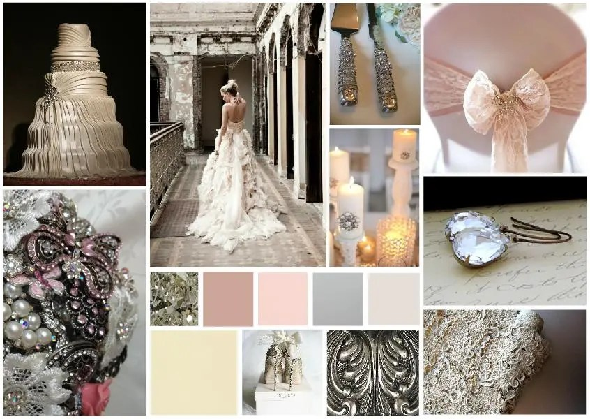 Romantic wedding inspiration board