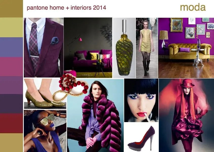 pantone moda color trend interior design mood board
