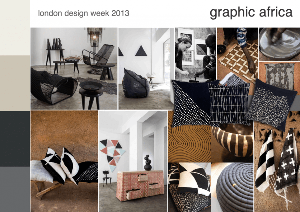 London design week 2013 graphic africa mood board