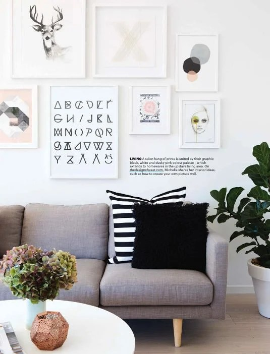 Alphabet poster designed by RK DESIGN. Photo from onehappymess - SampleBoard Blog