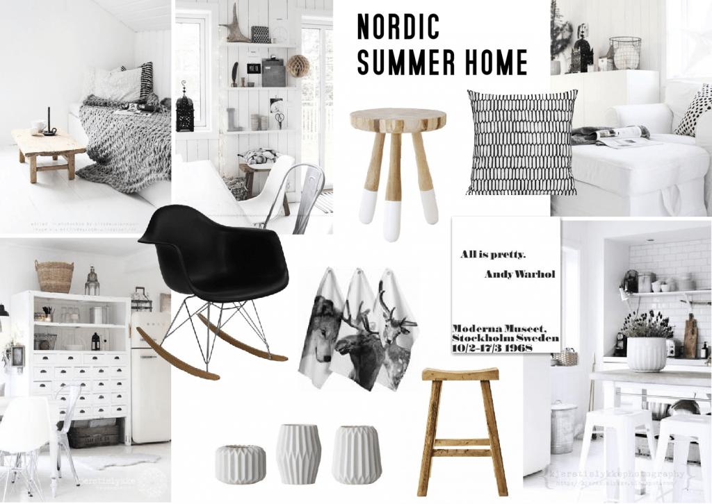 summer home inspiration nordic design sampleboard - Nordic Home Design