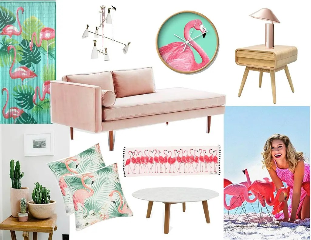 flamingo living room