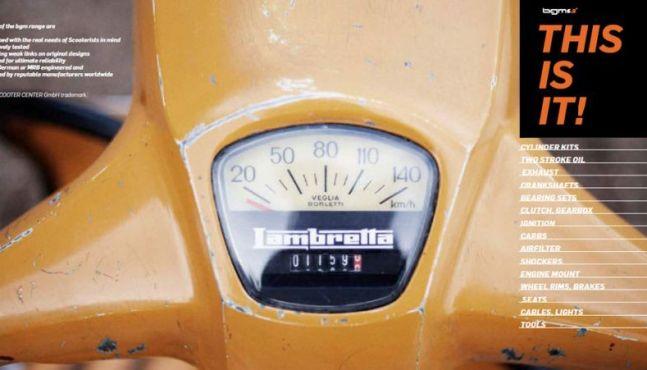 Neuer bgm Vespa & Lambretta Katalog