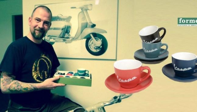 Rollerfahrer Geschenkidee – Vespa Espresso Tassen