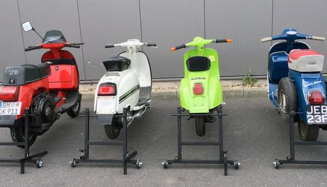 Vespa Roller Montageständer jetzt auch für Vespa V50 und Lambretta