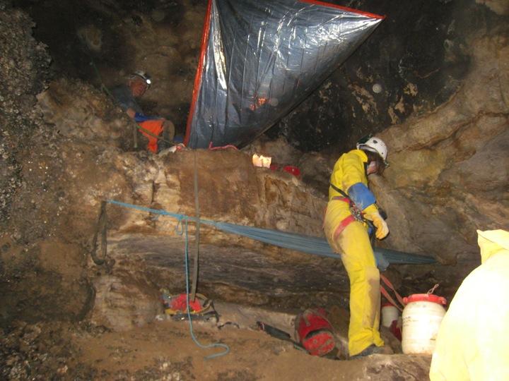 Cave campsite