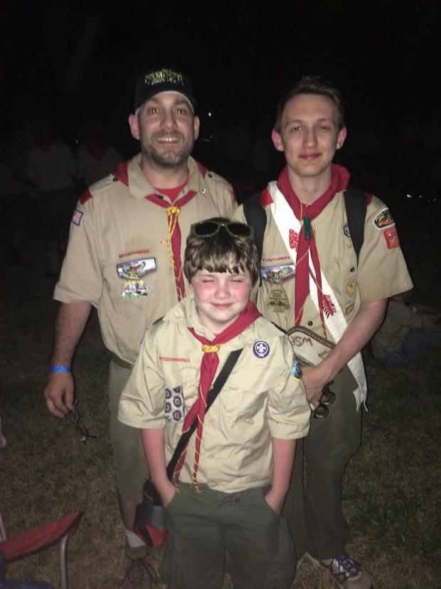 Mark, Kailen and Caiden