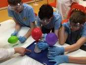 STEM Scouts with balloons