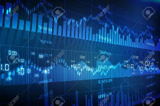 18416116-Stock-Market-Chart-on-Blue-Background--Stock-Photo-investment-graph-stock