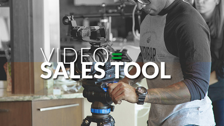 Videos are a sales tool