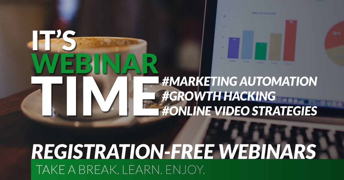 Webinars about Marketing Automation, Growth Hacking and Online Video Strategies