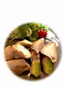 アボガドと長いもの塩麹豚巻き2