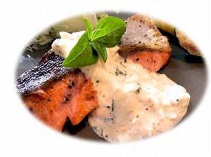 鮭のソテー バジルタルタルソース