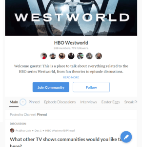 Commonlounge - Westworld community