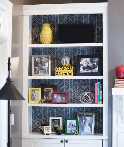 Announcing Peel and Stick Wallpaper + A Bookshelf Makeover | Spoonflower Blog