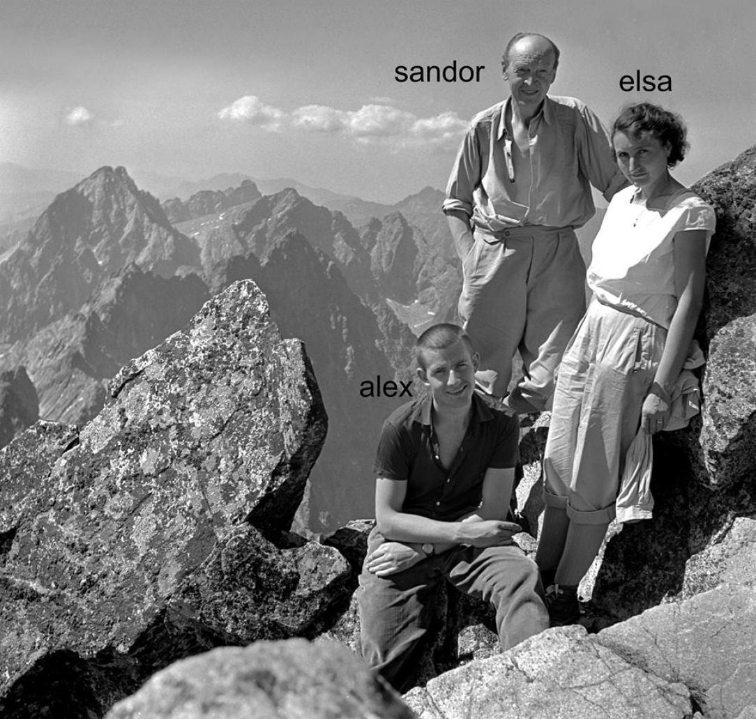 Alexander Luczy s rodičmi na Gerlachu v r. 1961