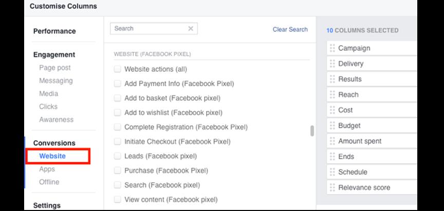 facebook pixel 2017