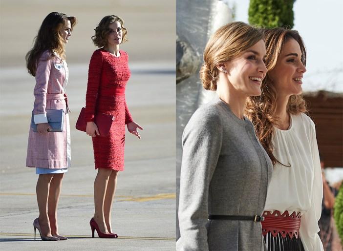 Queen Letizia and Queen Abdullah of Jordan
