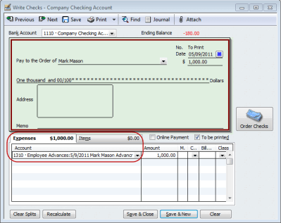QuickBooks Payroll Tip - Tracking Employee Advances or Loans | QuickBooks for Contractors blog