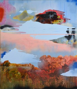 What's Up With The Sky, Painting by Rachel Stiff