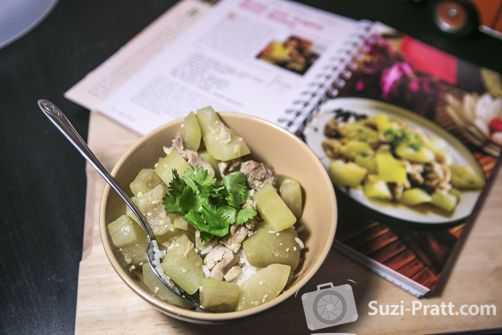 Grandma's hyotan squash with chicken recipe