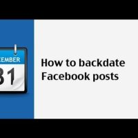How to Schedule and Backdate Facebook Posts