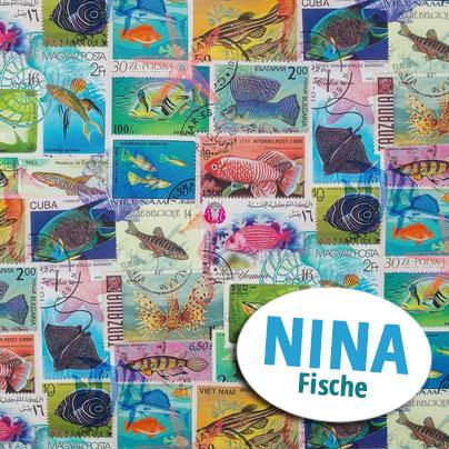 Dekostoff Nina mit Fischen