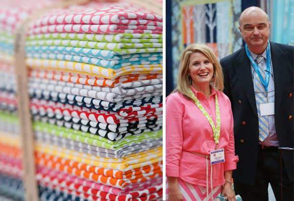 Hans-Gerd Swafing und Cindy Cloward von Riley Blake Designs