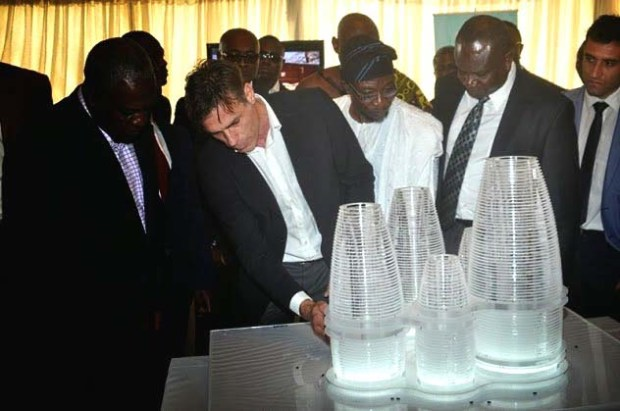 Stakeholders reviewing the Hope City Architecture by OBR