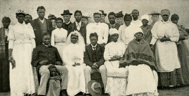 A Christian Wedding Group of Kaffrarian Christians in South Africa. Image Credit: By Internet Archive Book Images [No restrictions], via Wikimedia Commons