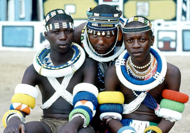 Young men from the Ndebele tribe in South Africa pose on their initiation day. 1Jan1985. Flickr / United Nations Photo