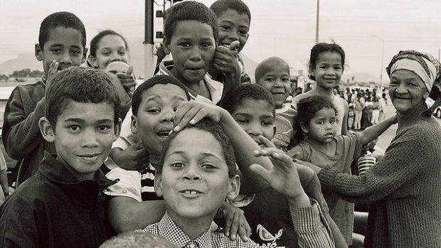 Cape coloured children in Bonteheuwel township (Cape Town, South Africa)