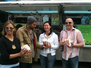 Tea Team outside Liba Falafel Truck