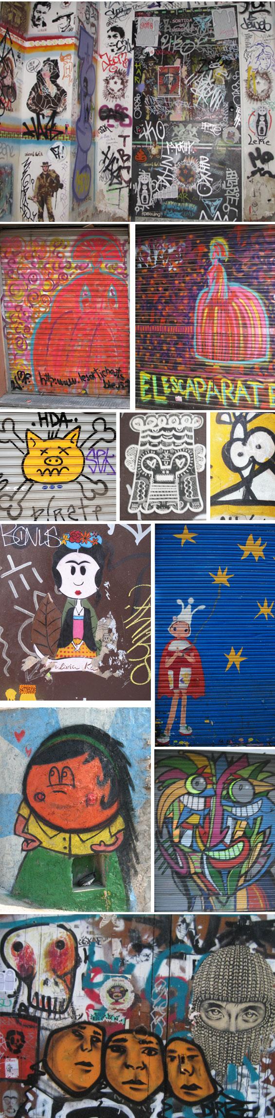 barcelona spain graffiti and street art