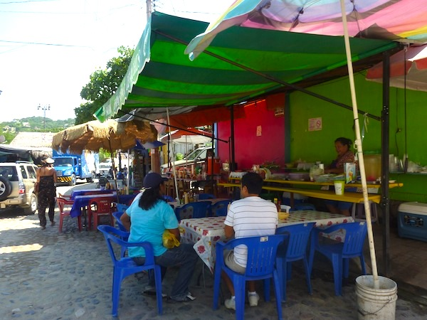 Food Stand in Sayulita, Mexico via Tea Collection's Studio T