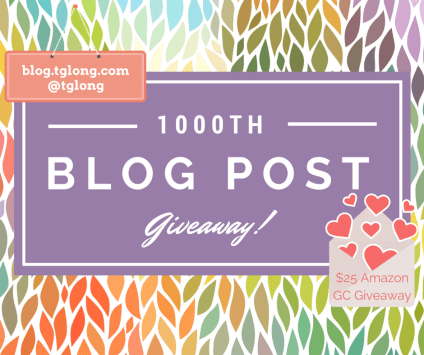 1000th Blog Post Giveaway