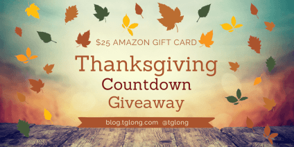 Thanksgiving Countdown Giveaway