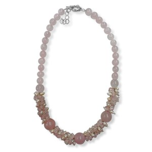Pink Quartz Pearl Necklace
