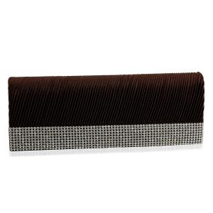 J Francis Luxurious Black Clutch Bag With Sparkling Austrian Crystal, a steal at £12.99